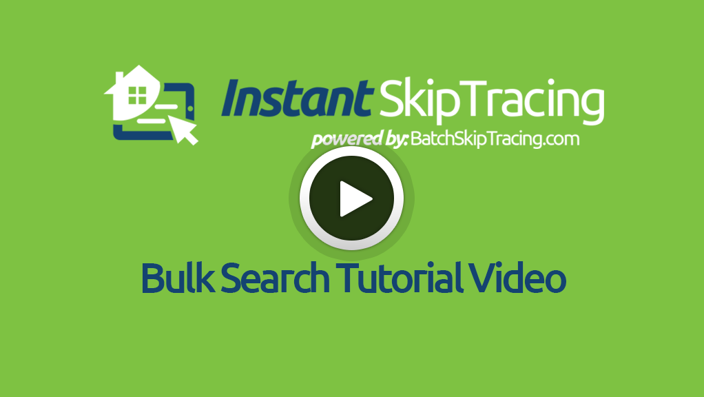 Bulk Search Tutorial Video