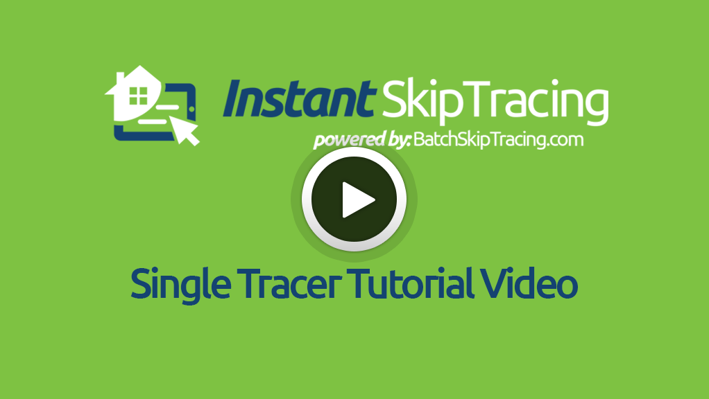 Single Tracer Tutorial Video
